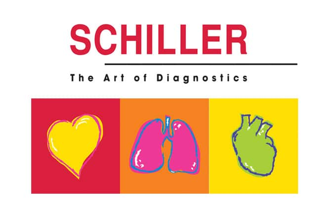 illustration schiller the art of diagnostics défibrillateur Dplus
